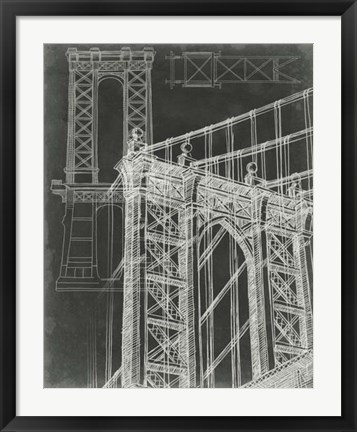 Framed Iconic Blueprint I Print