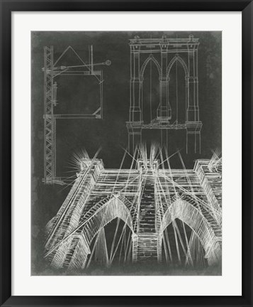 Framed Iconic Blueprint IV Print