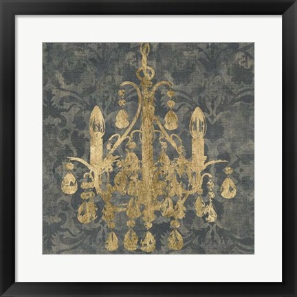 Framed Gilt Chandelier I Print