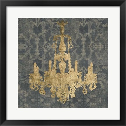 Framed Gilt Chandelier II Print