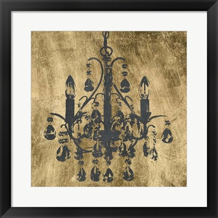 Framed Gilt Chandelier V Print