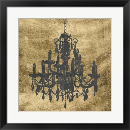 Framed Gilt Chandelier VII Print