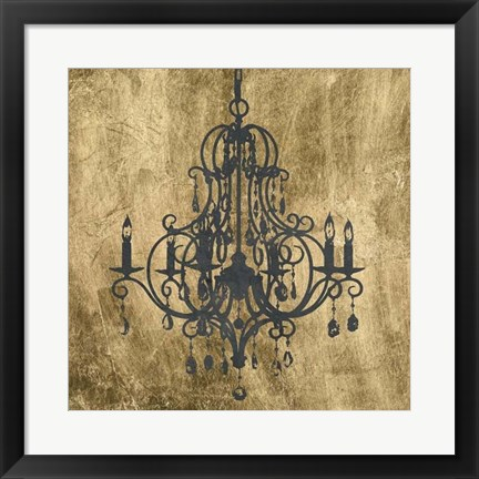 Framed Gilt Chandelier VIII Print