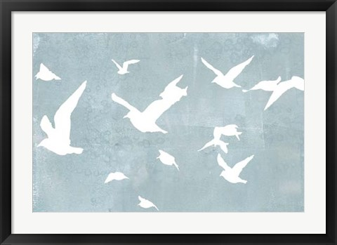 Framed Silhouettes in Flight I Print