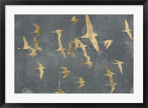 Framed Silhouettes in Flight IV Print