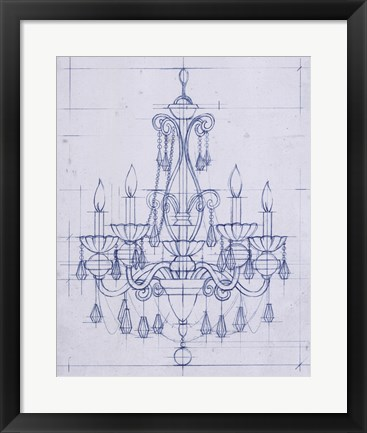 Framed Chandelier Draft III Print