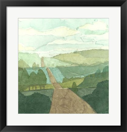Framed Countryside Collage II Print