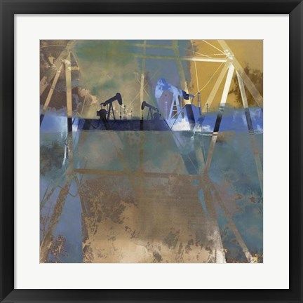 Framed Oil Rig Abstraction I Print