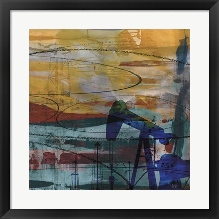 Framed Oil Rig Abstract Print
