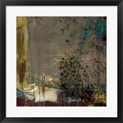Framed Cactus Abstract Print