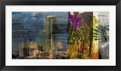 Framed Fort Worth Collage II Print