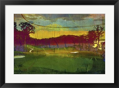 Framed Golf Abstract I Print