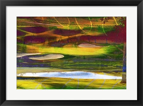 Framed Golf Abstract II Print