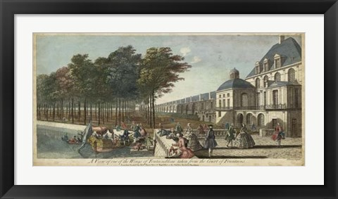 Framed View of Fontainebleau II Print