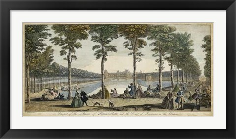 Framed View of Fontainebleau III Print