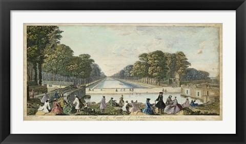 Framed View of Fontainebleau IV Print