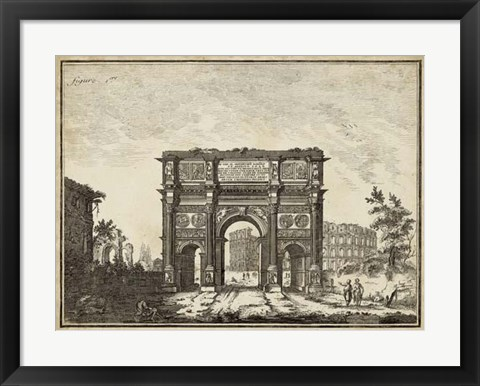 Framed Roman Antiquities I Print