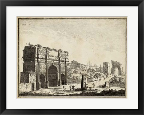 Framed Roman Antiquities II Print