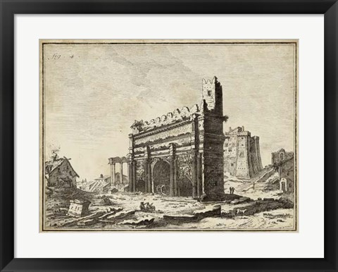 Framed Roman Antiquities IV Print