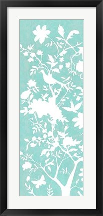 Framed Graphic Chinoiserie I Print
