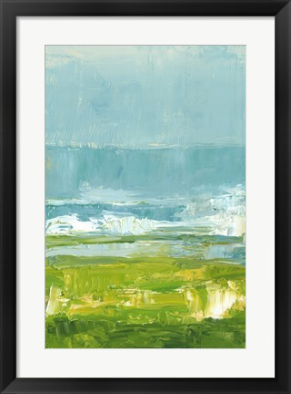Framed Coastal Overlook I Print