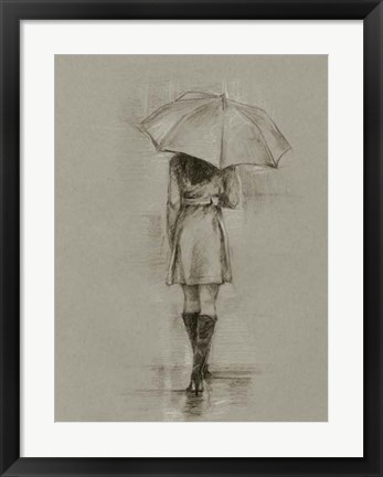 Framed Rainy Day Rendezvous I Print