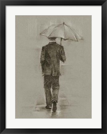 Framed Rainy Day Rendezvous II Print