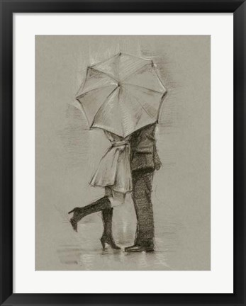Framed Rainy Day Rendezvous III Print