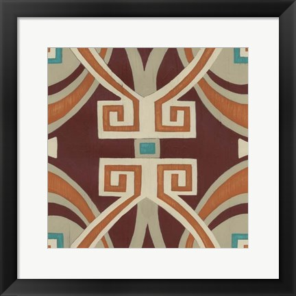 Framed Global Motif VI Print