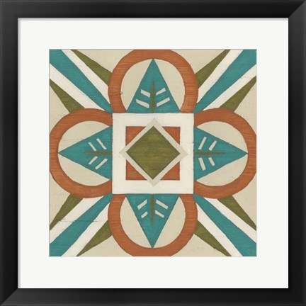 Framed Global Motif VII Print