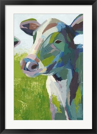 Framed Painterly Cow III Print