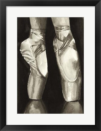Framed Ballet Shoes II Print
