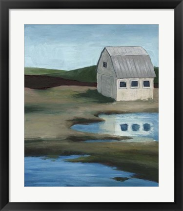 Framed Farmstead II Print