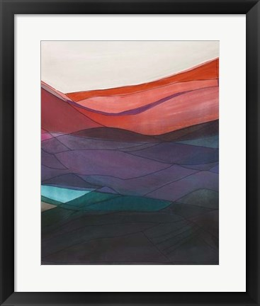 Framed Red Hills II Print