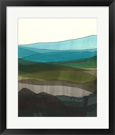 Framed Blue Hills I Print
