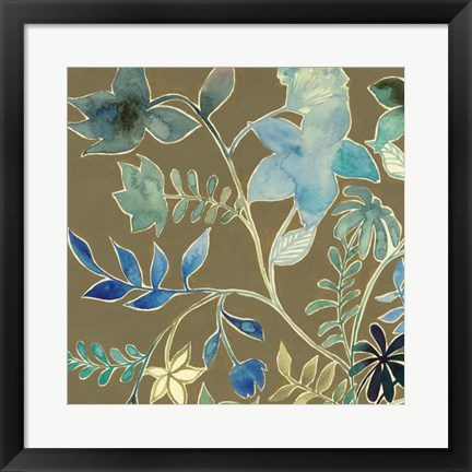 Framed Flower Garland III Print