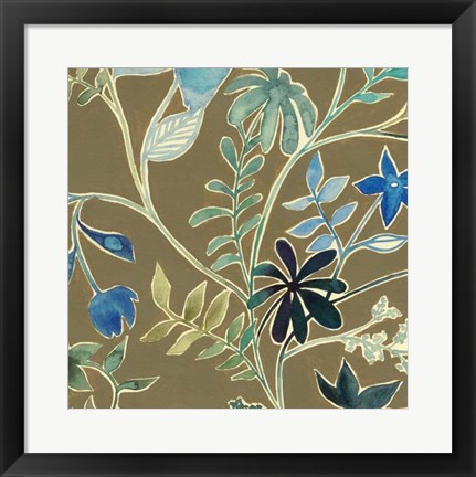 Framed Flower Garland IV Print