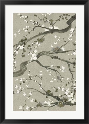 Framed Neutral Cherry Blossoms II Print