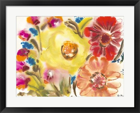 Framed Bed of Roses IV Print