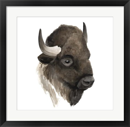 Framed Western Animal Study IV Print