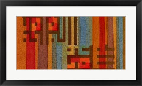 Framed Language of Color III Print