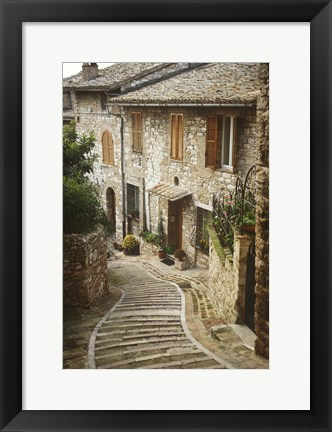 Framed Village Homes Print