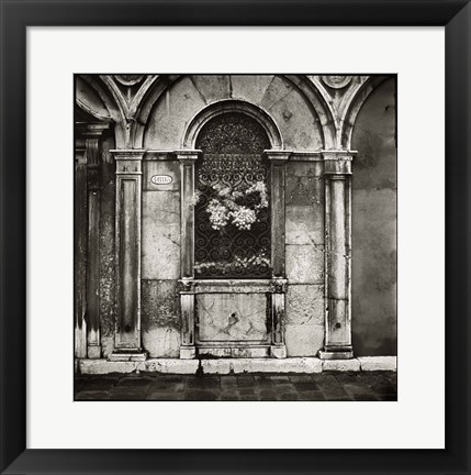 Framed Venice Window Print