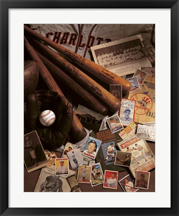 Framed Baseball 2 Print