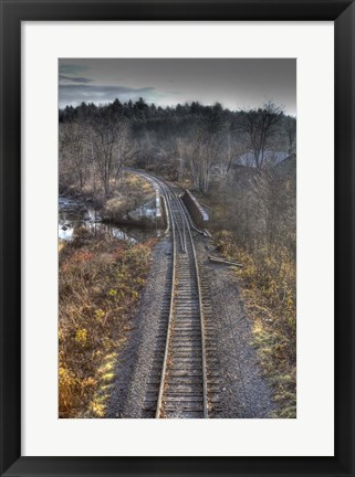 Framed Lonely Tracks Print
