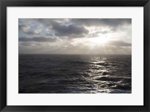 Framed Morning On The North Sea Print