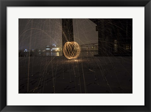Framed Explosion Of Sparks Print