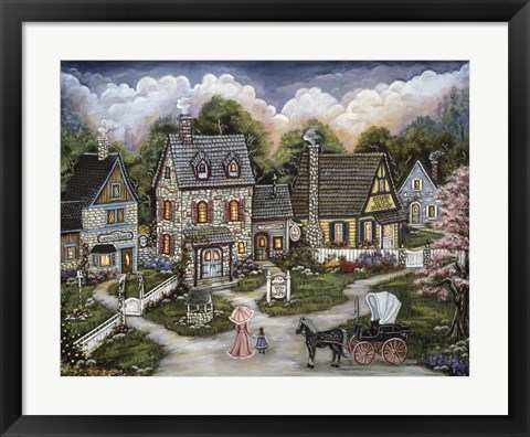 Framed Wishing Well Toy Shoppe Print