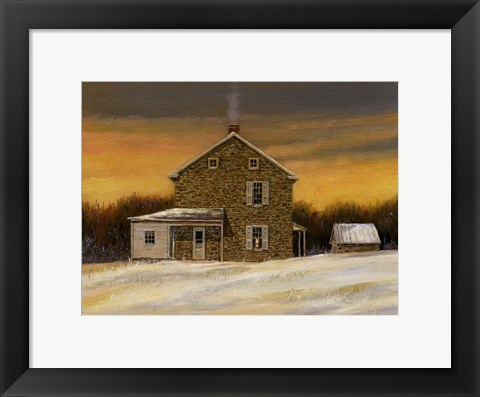 Framed Solbury Sunrise Print