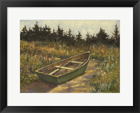 Framed Green Dory Print